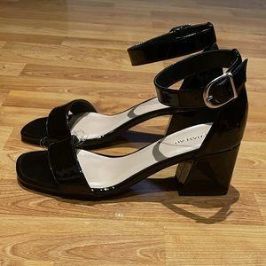 Le Chateau Patent Block Heel Sandal